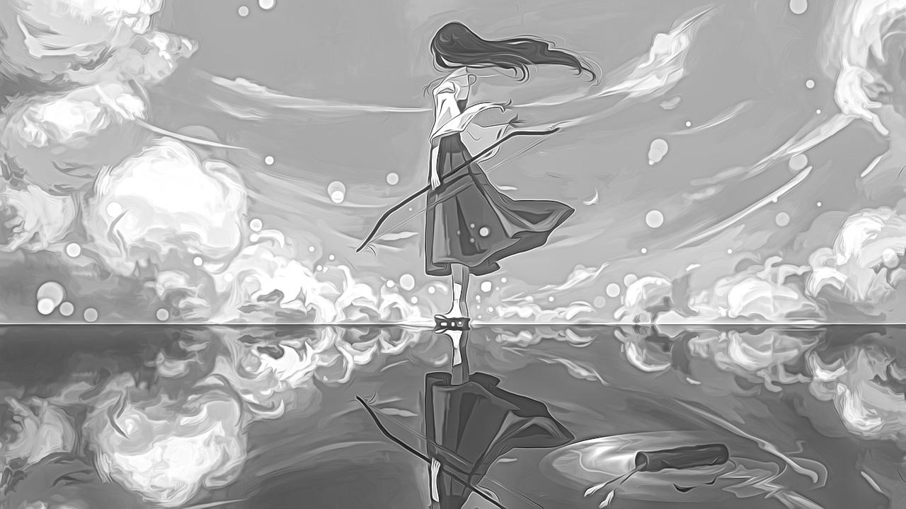 Anime Girl in the Wind